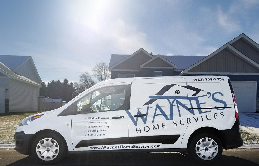 wayne's home services white service van